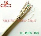 Cavo esterno dell'audio del connettore di cavo di comunicazione di cavo di dati del cavo del cavo/calcolatore della rete di STP Cat7 1000MHz