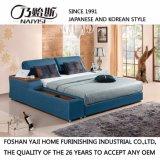 침실 사용 (FB8152)를 위한 파란 색깔 가죽 침대
