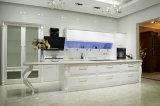 優雅の贅沢で白いマットシリーズラッカーメラミン食器棚