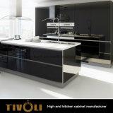 Самомоднейшая мебель кухни картины PU PVC MDF нестандартной конструкции дешевая (AP005)