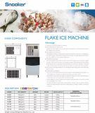 Machine commerciale de la neige 1200kg rasée par 4200W avec la tension 380V