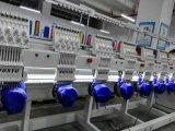 Máquina plana automatizada pista del bordado del &T-Shirt& del casquillo de Wonyo 6 con diseños libres