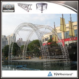 Алюминия ферменная конструкция ферменной конструкции крыши круга Semi изогнутая ферменной конструкцией круглая