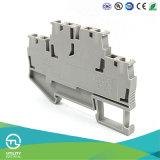 Conector de los bloques de terminales Jut3-4/2 de Dinrail del resorte