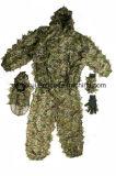 terno ajustado camuflar da folha 3D para a caça