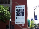 Gebäude-Zoll gedruckte Baustelle-Ineinander greifen-Fahne für Zeichen