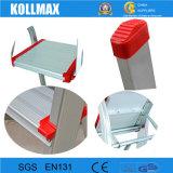 Einfaches Aluminium, das 7 Jobstepp-Strichleiter-Ausgangsgebrauch-preiswerte Strichleiter faltet