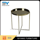 Guter verkaufenchrom-chinesischer Kaffeetisch-Metallseiten-Tisch