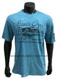 T-shirt de loisirs pour les hommes avec le lavage encrassé