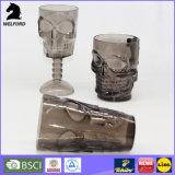Gobelet en plastique de crâne pour la bouteille de squelette de bouteille de boisson alcoolisée de vin