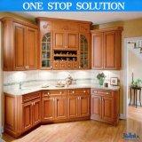 Estilo L gabinete de América de cozinha de madeira da forma