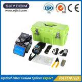 Colleuse de fusion optique de fibre de Skycom avec le fendoir/décolleur de fibre