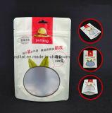 Customzied Fastfood- Aluminiumbeutel lamellierte aufrechte Plastiktasche für Nahrungsmittelpaket mit Reißverschluss