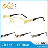 Стекел Eyeglass Eyewear высокого качества рамка Semi-Rimless Titanium оптически (8414)
