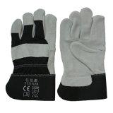 Plein gant protecteur de travail de main de cuir fendu de peau de vache de paume avec du ce En388