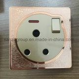 Socket BRITÁNICO de la cuadrilla 15A del estándar 1 con el interruptor