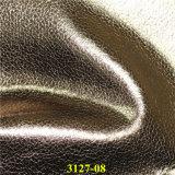 Треская ткань типа поддельный кожаный для обуви с материалами PU