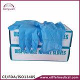 Медицинским перчатки рассмотрения PVC скорой помощи напудренные винилом