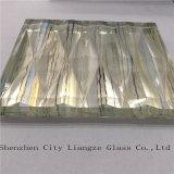 회색 미러 박판으로 만들어진 유리 샌드위치 또는 강화 유리 또는 안전 유리 장식적인