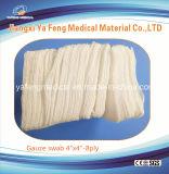 Spugna non sterile 100% della garza del cotone per uso medico