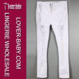 Jeans bianchi di modo del denim dell'abito delle signore (L455-1)