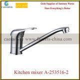 Faucet de água de bronze do dissipador de cozinha do bico longo fixado na parede
