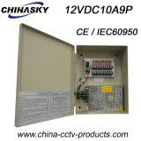 Blocs d'alimentation centraux enfermés dans une boîte pour 9 appareils-photo (12VDC10A9P)