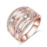 女性(CRI1031)のための多層オーストリアの水晶結婚指輪