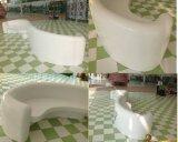 Lamiera sottile di pietra artificiale acrilica bianca pura di 100%