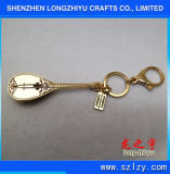 Forme chinoise de Pipa de trousseau de clés fait sur commande de trousseau de clés en métal