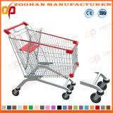 Niedriger Preis-Draht-Metallsupermarkt-Einkaufen-Laufkatze (ZHt234)