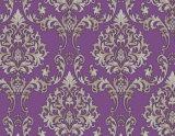 Papel pintado islámico púrpura clásico para la decoración casera