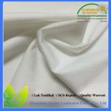 Tela impermeável de Jersey do algodão laminada com plutônio branco
