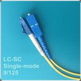 Cabo de fibra óptica do remendo do LC-Sc Upc