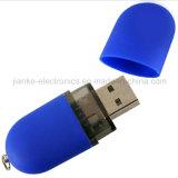 Напечатанный привод вспышки USB высокого качества голубой с изготовленный на заказ логосом (101)