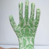 Bunter Abdruck-Nitril-Sicherheits-Arbeits-Handschuh Gmnr010
