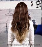 Парик 100% шнурка волны синтетического парика парика волос Remy глубокий