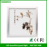 300*300*9mm Printed Picture LED Flat Panels 18W Ce RoHS