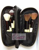 Handle di legno Goat Hair 10PCS Cosmetic Brush Set
