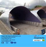 電流を通された鋼鉄排水渠