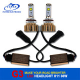 Lampada capa dell'automobile LED di V16 Turbo 30W 3000lm H11 con i chip del CREE
