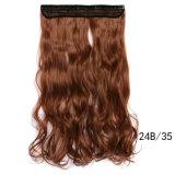Clip de cheveu bouclé de cheveu de cinq clips long dans la prolonge de cheveu