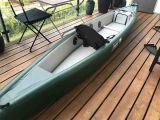 Canoa inflable verde de Whitewater de la buena calidad del ejército