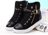 Новые ботинки холстины девушки типа способа с застежкой -молнией (NF-9)