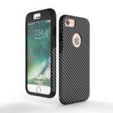 Caja de la fibra del carbón de 360 protecciones para el iPhone