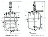 Cuve de fermentation/réacteur Agitated revêtu