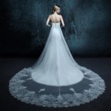 Feather Sleeveless Sweetheart Wedding Dress (ZXB-7)
