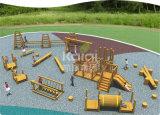 Patio al aire libre de madera de Kaiqi con los puentes, trozos, diapositivas, escaladores (KQ60083A)
