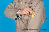 Do Workwear longo da segurança da luva do poliéster 35%Cotton de 65% roupa protetora (BLY1024)