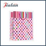 Dots & Vertical Stripes Art Paper Cheap Shopping Gift Paper Handbags